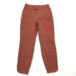 Modcloth Red Brick Cotton Blend Pants Women S NWOT